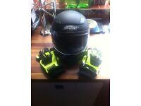 Shox motorcycle helmet