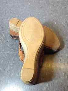 NEW Browns Brand leather wedge sandals Cambridge Kitchener Area image 4