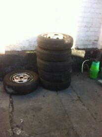 Wheel and tyres 185r14c