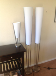 Set of three matching lamps