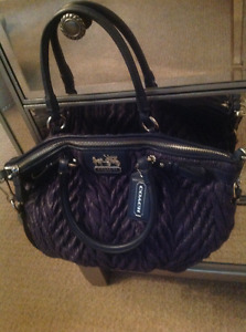 Authentic navy blue coach satchel