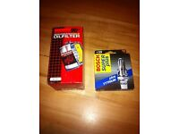 Focus or Mondeo K&N oil filter and Bosch super plus spark plugs