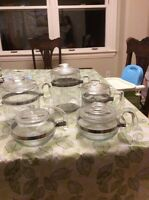 Pyrex tea and coffee pots. Very retro