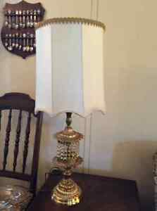 2 Table Lamps and hanging lamp...Retro