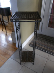 Metal and wicker stand