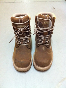 Steel Toe Work Boots - Size 8.5