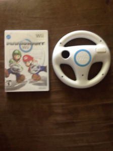 Mario Kart And Steering Wheel Excellent Condition $30.00