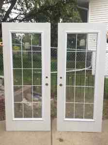 New exterior doors with full glass inserts
