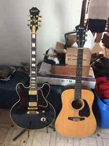 (2) Guitares BB KING LUCILLE and IBANEZ