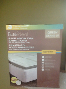 New Queen size Memory Foam Mattress Topper, Butikideal