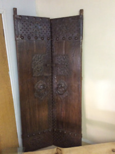 RARE QING DYNASTY Courtyard Temple Doors ONE OF KIND!!!