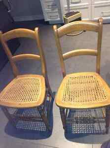 Set of 4 can seat chairs for sale