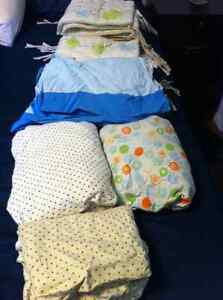 breathable crib bumper, sheets and bed skirt Prince George British Columbia image 3
