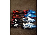 Football boots all Adidas and in good condition and clean.