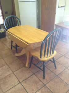 Small folding table and chairs..