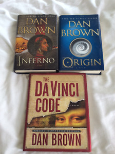 Dan Brown hardcover books