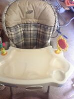 High chair evenflo- removable dish washer tray.