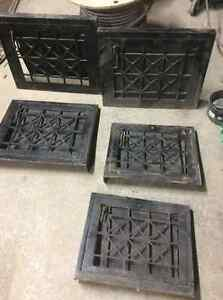 Antique Steel Art Deco wall vent diffuser decorative iron covers