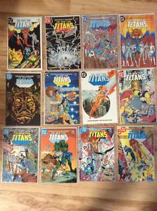 New teen titans DC comics lot 80's