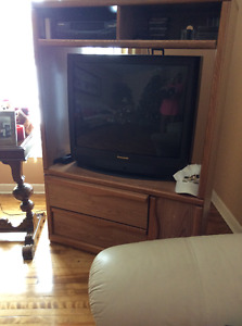 Panasonic tv with wooden stand