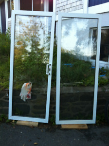 Double sliding patio doors for sale, no frame $120 OBO
