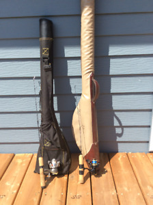 Ice fishing rods and case