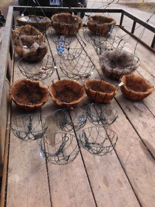 """10""""&12""""&14"""" English Coco Hanging Baskets- from $5 to $10"""