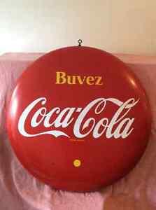 """Coca cola 48"""" porcelain button sign"""