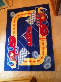 Cars kids room rug