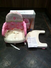 Folding booster seat (summer) in pink