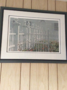 ROBERT BATEMAN COLONIAL GARDEN FRAMED & SIGNED