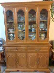 Buffet and hutch with matching corner China cabinet
