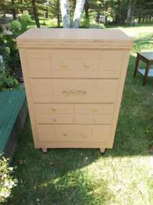 Vintage wood dresser with four drawers