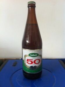 Labatt 50 Sealed Vintage Beer Bottle