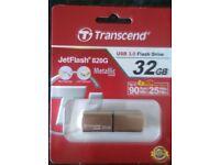 Transcend 32Gb. USB 3.0 menory stick