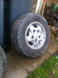 Landrover defender spare wheel n tyre