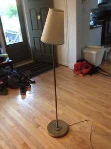 Floor lamp with lampshade - $10