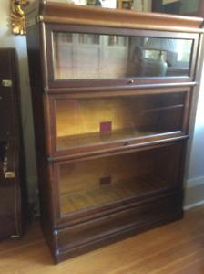 Vintage oak barrister/ stacking bookcase