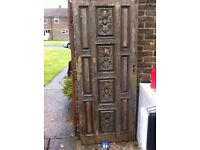 Hand Carved Chinese Style Front Door