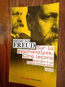 Livre: Sur la psychanalyse , Cinq leçons
