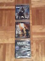 Call of duty ghost, Destiny, The last of Us pour ps3