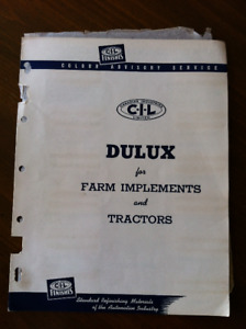 Vintage Paint Charts for 1951 Autos & Farm Implements