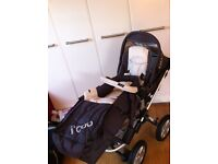 bed settee , pram and stroller 3in1 and house clearance