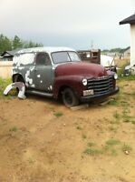 53 Chevy panel truck BC registration
