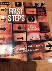 First Steps: A Guide to Social Research, Third Edition - good