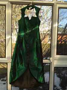 Robe de bal  vert emeraude / prom ,gala or bride maid