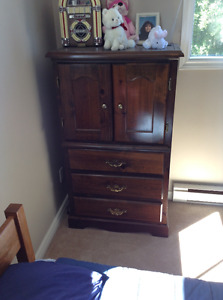 Dresser, end table, bed