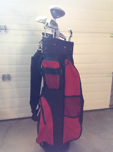 Ladies Golf Clubs with bag/ cart