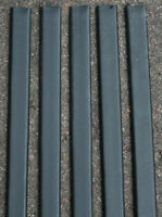 5' & 6' Chain Link Fence Privacy Slats Black