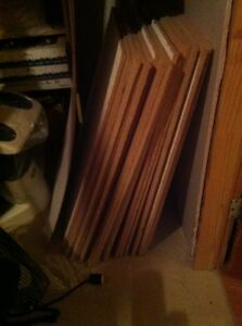 Bundle of used ceiling tiles